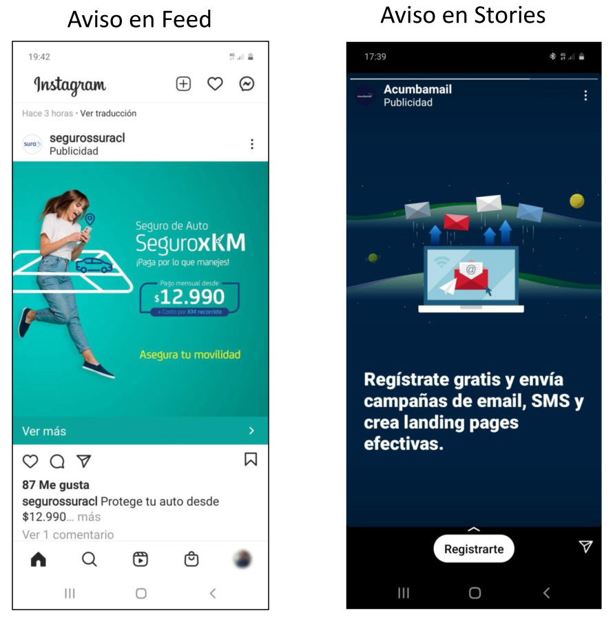 Ejemplos de Instagram Ads